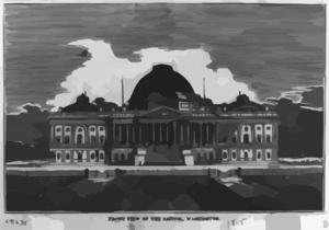 Front View Of The Capitol, Washington Clip Art
