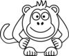 Black And White Cartoon Monkey Clip Art