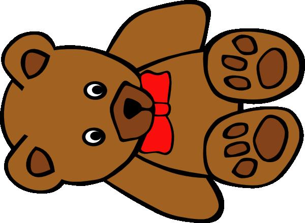 teddy bear with bow clip art at clker com vector clip art online rh clker com teddy bears clipart cute teddy bear clipart