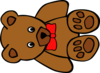 Teddy Bear With Bow Clip Art