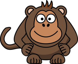 Light Brown Monkey Clip Art