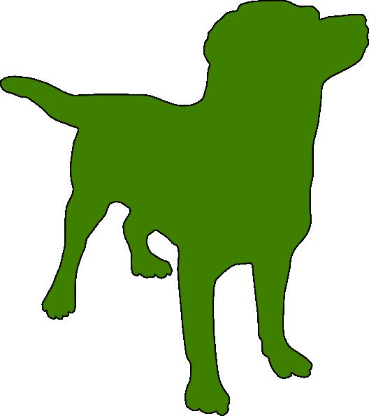 green dog clipart - photo #4