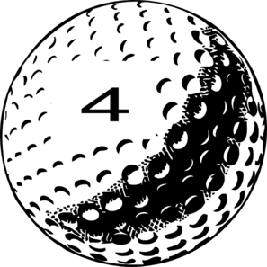Golf Ball Number 4 Clip Art