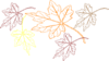Falling Leaves Multiple Colors Clip Art