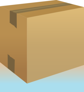 Closed Cardboard Box-blue Clip Art at Clker.com - vector clip art ...