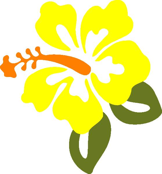 Yellow Hibiscus Clip Art at Clker.com - vector clip art ...