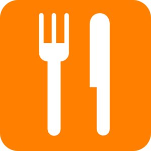 Knife And Fork Orange Clip Art