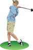 Simple Golf Swing Clip Art