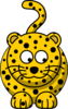 Leopard Looking Right-down Clip Art