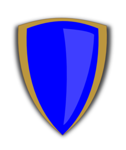 Gold And Blue Shield Clip Art