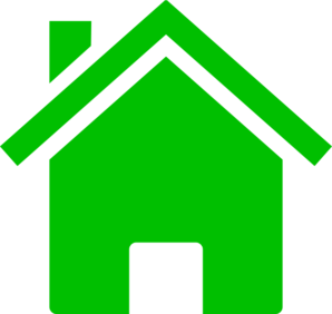 House Icon Green Clip Art