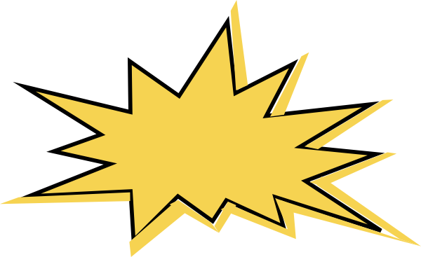 Comic yellow star clip art at clker com vector clip art