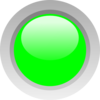 Green Circle Button Clip Art