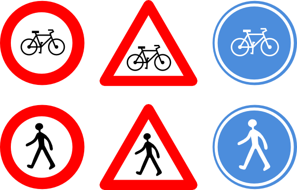 Bicycle Traffic Signs Clip Art at Clkercom vector clip art