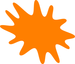 Orange Splash Clip Art