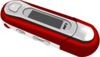 A Red Old Style Mp3 Player Clip Art