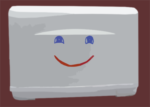 Smiley Toaster Clip Art