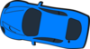 Blue Car - Top View - 170 Clip Art
