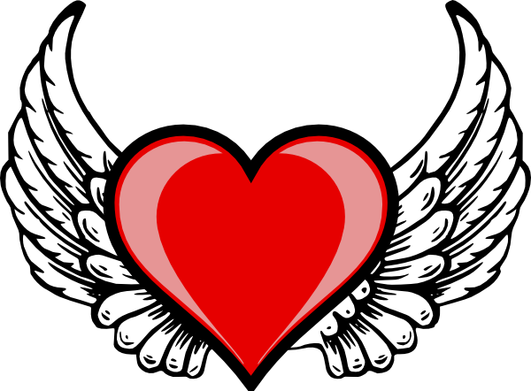 Heart with Wings Logo
