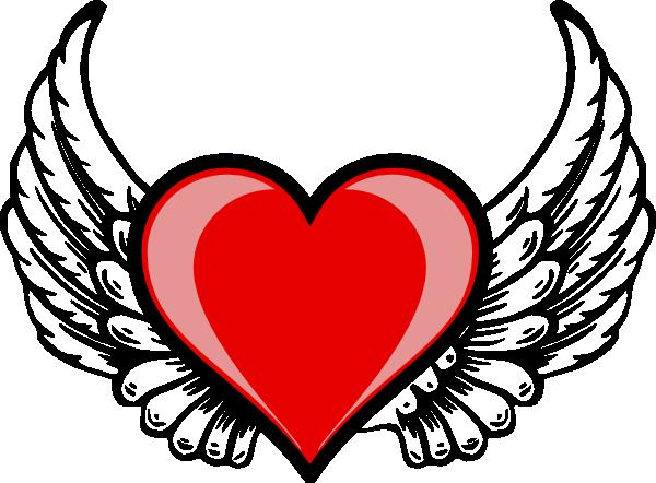 Heart Wing Logo Clip Art at Clker.com - vector clip art online ...