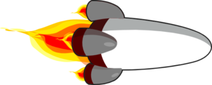 My Rocketship Edit (realistic) White Clip Art