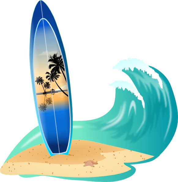 surfboard and wave clip art at clker com vector clip art online rh clker com surfboard clipart black and white shark surfboard clipart
