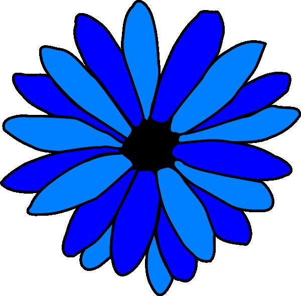 Blue Daisy Clip Art at Clker.com - vector clip art online ...