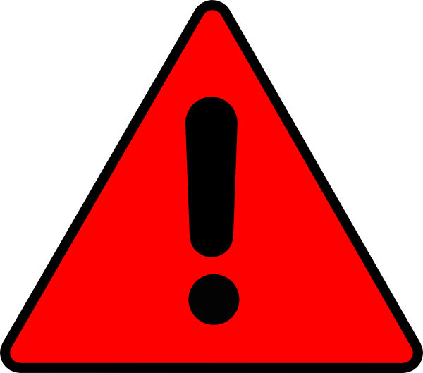 Warning Triangle Clip Art at Clker.com - vector clip art online ...