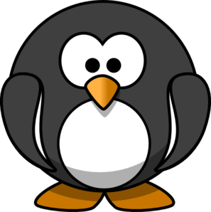 Dark Grey Penguin Clip Art