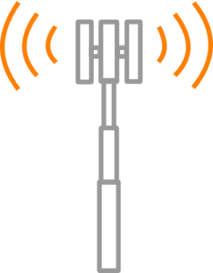 Antenne Grise Frequence Bi-directionnelle Orange Clip Art