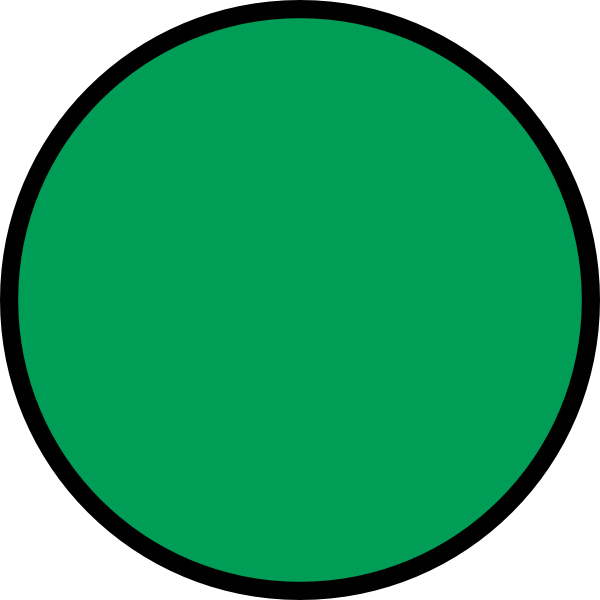 Circle green. Clip art at clker