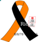 Black & Orange Motorcycle Awarness Ribbon Clip Art