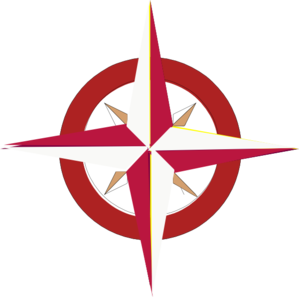 Tan/red Compass Rose Clip Art