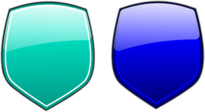Pink Blue Glossy Shields Clip Art