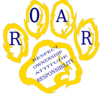 Wildcat Paw Roar Golden Clip Art
