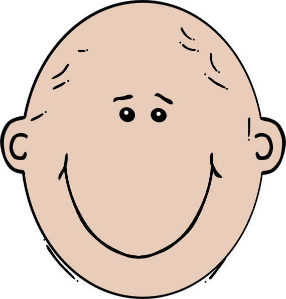 Bald woman clip art at vector clip art online royalty free public domain - Clipart visage ...