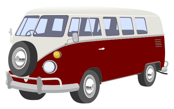 Campervan Red Clip Art At Clker