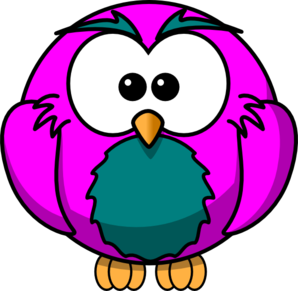 Purple And Grey Hoot  Clip Art