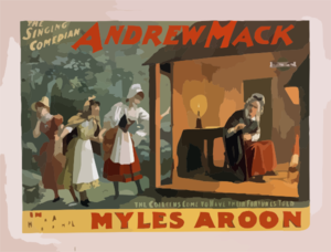 The Singing Comedian, Andrew Mack In The Greatest Of Irish Plays, Myles Aroon Clip Art