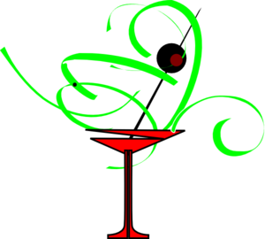 Red Martini Clip Art