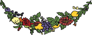 Grape Vine Garland Clip Art