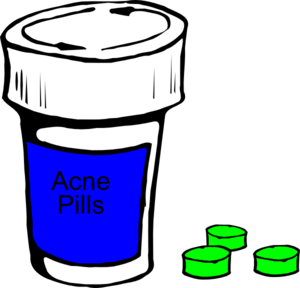 Acne Pills Clip Art