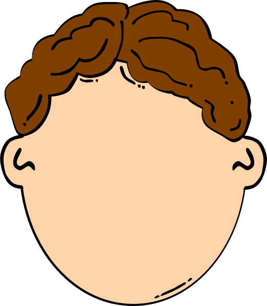 brown hair boy clip art at clkercom vector clip art