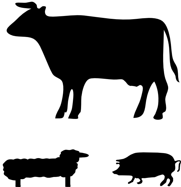 farm animals clip art at clker com vector clip art online royalty rh clker com livestock animals clipart livestock judging clipart