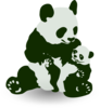 Panda Bear With Panda Baby Clip Art
