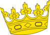 Big Tilted Crown Clip Art