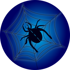 Spider On Web Clip Art
