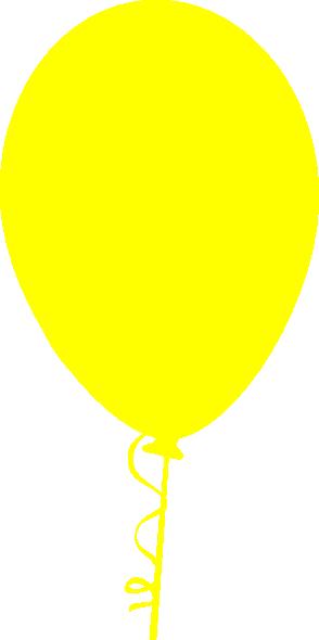 clipart yellow balloons - photo #7