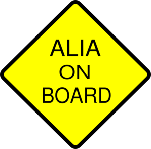 Alia On Board  Clip Art