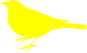Little Yellow Bird Clip Art